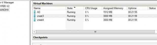 Nano serveur Hyper-V - Windows 2016 TP3