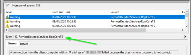 Brute Force RDP sur Windows 2019: Bloquer les attaques