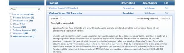 Windows Server 2022 est RTM