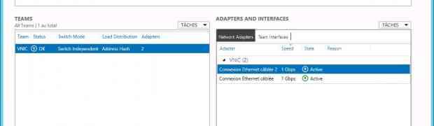 L'agrégation de cartes réseau sous Windows 8 Serveur