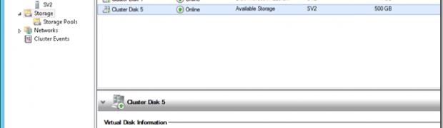 Quoi de neuf sur le cluster Windows 8 ? Les pools de Stockage !